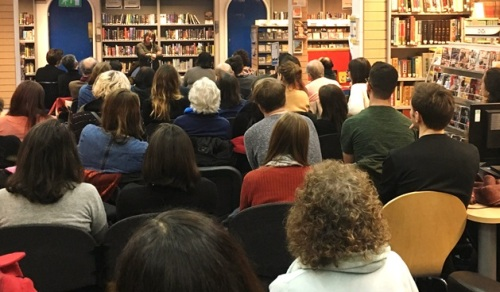 Author Ali Smith at Charing Cross Library, February 2017