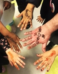Henna painting at Queen's Park Library's Community Cultural Celebration, February 2017