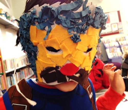 Half term mask making at Maida Vale Library, February 2017