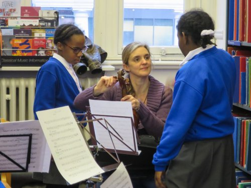 Henry Purcell workshop with RPO musicians at Westminster Music Library, February 2017