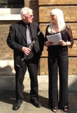 Poet, Valerie Fry and Clarinettist, Chris Hooker