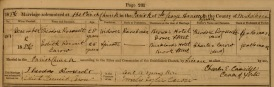 Marriage entry for Theodore Roosevelt, 2 December 1886. Image property of Westminster City Archives.