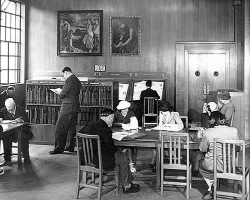 Periodicals room in Marylebone Library, 1940