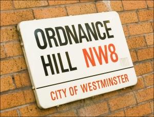 Ordnance Hill Street Sign