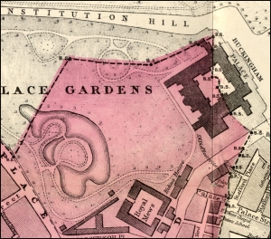 St George Hanover Square parish map, 1882